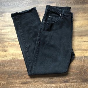 Wrangler Relaxed Fit Mens Jeans, Black, Straight